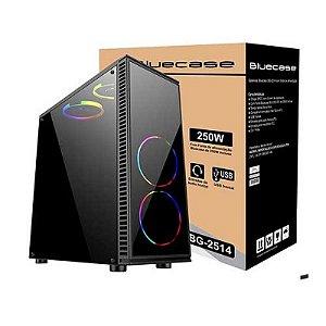 GABINETE COM FONTE 250W BG-2514 PRETO BLUECASE - USB 3.0