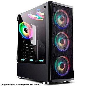 GABINETE GAMER BG-025 PRETO BLUECASE S/ FONTE / USB 3.0