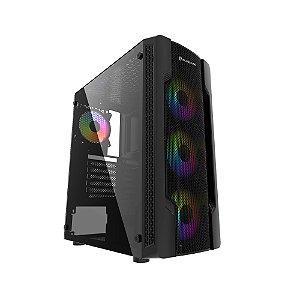 GABINETE GAMER BG-031 PRETO BLUECASE S/ FONTE / USB 3.0