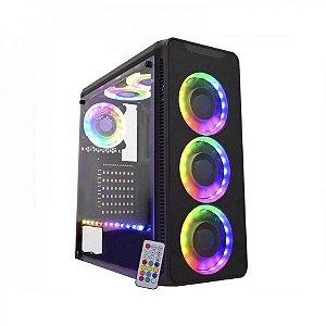 Gabinete Gamer K-mex Infinity 3 CG-03G8 3 coolers RGB