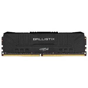 MEMORIA RAM CRUCIAL BALLISTIX 8GB DDR4 2666 MHZ, CL16, UDIMM, PRETO - BL8G26C16U4B