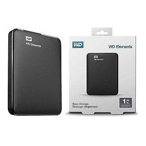 """HDD Externo Western Digital 2TB USB 3.0 Elements Portatil 2,5"""""""