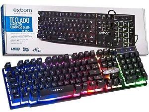 TECLADO USB GAMER COM ILUMINACAO DE LED RGB BK152C EXBOM