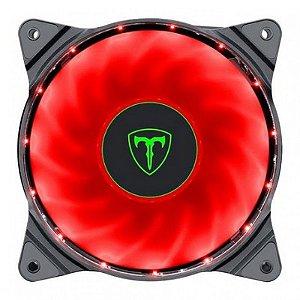 FAN 120X25MM T-DAGGER LED VERMELHO T-TGF300-R