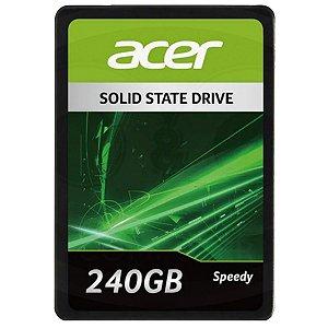 SSD Interno Acer Speedy, 240GB, SATA III, 550MB/s leitura, 490MB/s gravacao (GPSRG1100F)