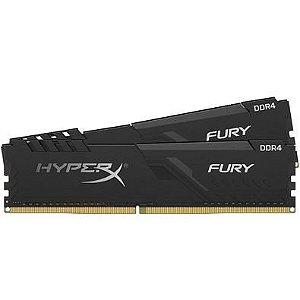 ***KIT 2x8gb DDR4 2666mhz HyperX Fury Black