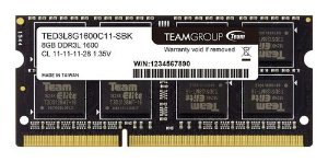 Memoria NoteBook Team Group 8GB 1600Mhz DDR3L 1.35v