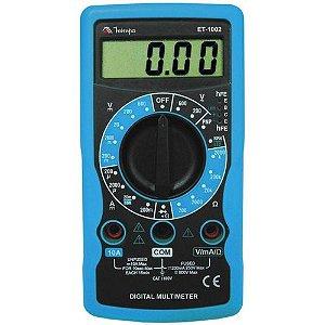 MULTIMETRO DIGITAL 3 1/2D - 10A ET-1002