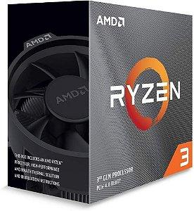 Processador AMD Ryzen 3 3100 3.6GHz 18Mb AM4 Wraith Stealth Cooler