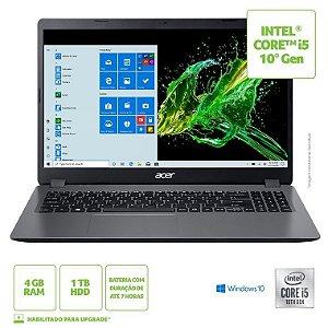 NOTEBOOK ACER 15.6P COREI5-10210U 4GB HD1TB W10 A3155458H0 PRATA BIVOLT