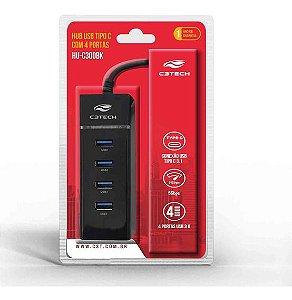HUB USB 3.0 4 PORTAS USB-USBC HU-C300BK C3T