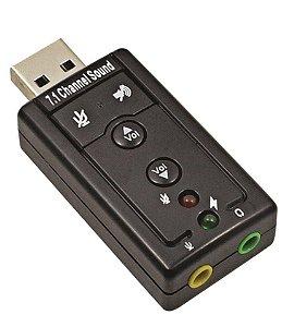 PLACA SOM USB 7.1 CANAIS IMPORTADO