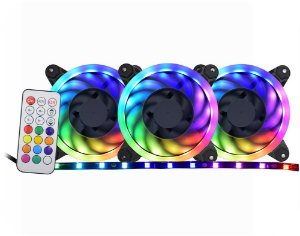 KIT COOLER RGB RAINBOW + FITA + PLACA 120*120 HELICES BRANCA