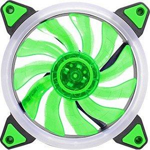 Led Ring Cooler Fan Gamer Verde 120*120 *25mm c/11Helices