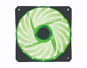 Led Cooler Fan Gamer Verde 120*120*25mm c/33 Leds 9 Helices