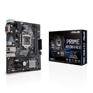Placa Mae Asus Intel LGA 1151 mATX DDR4 2666 Mhz Sata 6Gbps e USB 3 - 1 Gen - 190MB11X0C1BAY0  PRIME H310M-E R2.0/BR