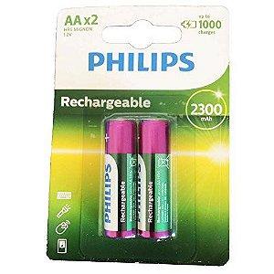 PILHA RECARREGAVEL AA 2300MAH CARTELA C/2 PHILIPS