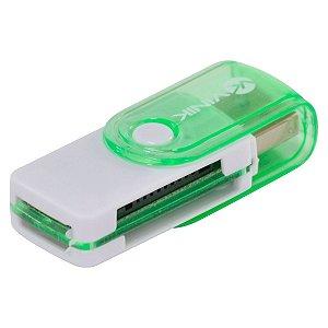 LEITOR DE CARTÃO USB 2.0 4 EM 1 - UL100 - VINIK