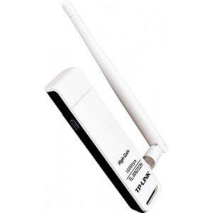 ADAPTADOR USB WIRELESS N 150MBPS 1 ANTENA DESTACÁVEL 4DBI TL-WN722N - TP-LINK