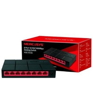 Switch 8 portas Mercusys SOHO MS108G GIGABIT 10/100/1000Mbps