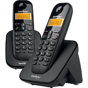 TELEFONE SEM FIO COM IDENTIFICADOR + RAMAL TS40C PRETO - INTELBRAS