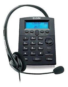 TELEFONE HEADSET COM IDENTIFICADOR DE CHAMADAS HST-8000 PRETO - ELGIN