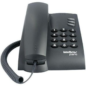 TELEFONE PLENO PRETO - FUNÇÕES FLASH, REDIAL MUTE - INTELBRAS