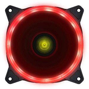FAN/COOLER VX GAMING PARA GABINETE V.RING ANEL DE LED 120X120MM VERMELHO - VINIK