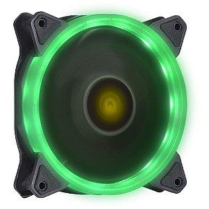 FAN/COOLER VX GAMING PARA GABINETE V.RING ANEL DE LED 120X120MM VERDE - VINIK