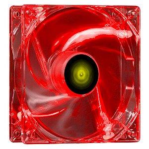 FAN/COOLER VX GAMING V.LIGHT 4 PONTOS DE LED 120X120 VERMELHO - VINIK