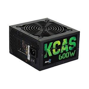 Fonte Atx Aerocool 600w 80 Plus Bronze PFC Ativo - KCAS600-BR