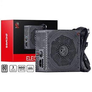FONTE ATX 600W REAL ELECTRO V2 SERIES 80 PLUS WHITE - ELV2WHPTO600W