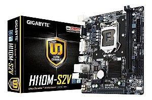 Placa Mae Gigabyte GA-H110M-S2V Micro ATX DDR4 VGA 2xUSB 3.0