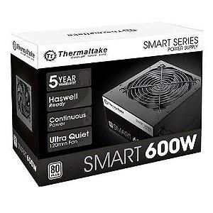 FONTE 600W Thermaltake SMART ATX2.3 A-PFC 80+WHITE PS-SPD-0600NPCWBZ-W