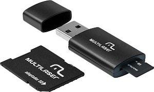 KIT MICRO SD 16GB+ADAP+LEITOR MC112