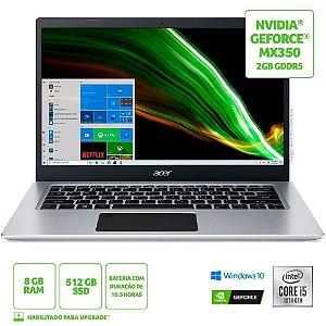 "Notebook Acer A515-55G-51HJ Intel Core i5 10A  8GB SSD 256gb 15.6"" Windows 10 Home"