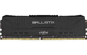 Memória Ram Crucial Ballistix 8gb Ddr4 3000Mhz Cl15 Preta - BL8G30C15U4B