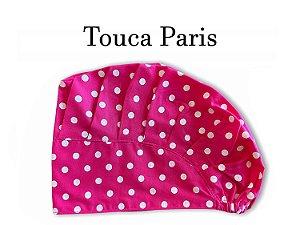 Touca Paris - Poá Pink - Uniblu