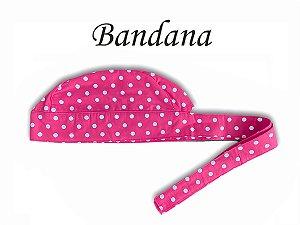 Bandana - Touca Pirata Poá Pink - ( unisex ) -  Uniblu