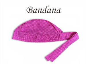 Bandana - Touca Pirata Poá Pink P - ( unisex ) -  Uniblu