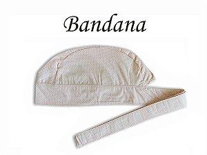 Bandana - Touca Pirata Poá Nude - ( unisex ) -  Uniblu