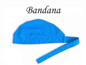 Bandana - Touca Pirata Rosa Fil a Fil Royal - ( unisex ) -  Uniblu