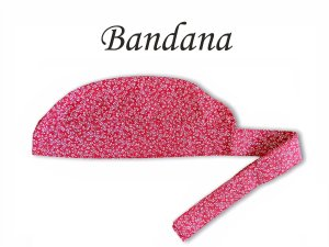 Bandana - Touca Pirata Floral Vermelho - ( unisex ) -  Uniblu