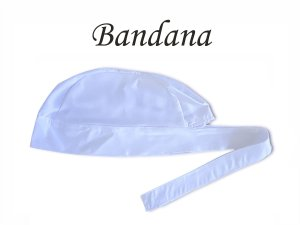 Bandana - Touca Pirata Branca - ( unisex ) -  Uniblu