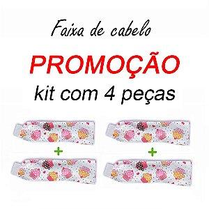 P R O M O Ç Ã O:  kit com 4 Faixa de Cabelo - Cupcakes - Uniblu