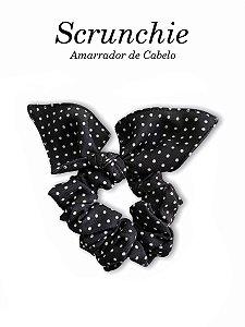 Scrunchie - Amarrador de cabelo Poá preto nº1 - uniblu