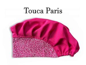 Touca Paris - Aba Floral Pink e Cabeça Pink - Uniblu