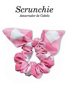 Scrunchie - Amarrador de cabelo Xadrez Pink Lancaster