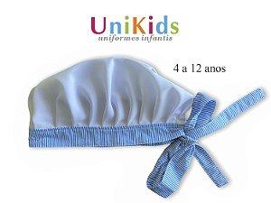 Touca Unikids - Azul com Detalhes em Listras - Uniblu