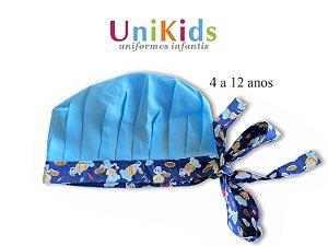 Touca Unikids - Cabeça Azul com Detalhes Chefinho Azul- Uniblu